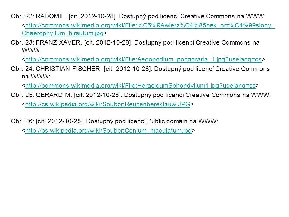 Obr. 22: RADOMIL. [cit. 2012-10-28]. Dostupný pod licencí Creative Commons na WWW: